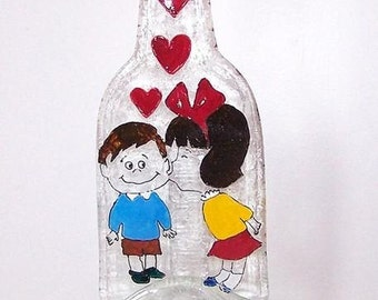 decoration, glass,love, bottle,