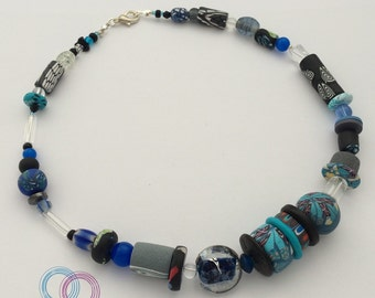Artist necklace, blue Phantasy