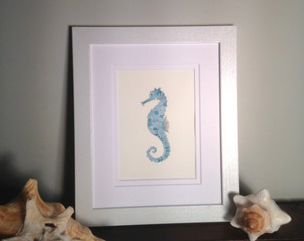 Seahorse Original Watercolor Painting
