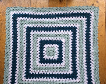 Crochet baby  blanket ,granny square blanket/ lap blanket