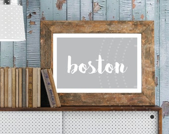 Printable Boston artwork, 11x17 wall art for Boston