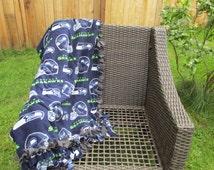 Seattle Seahawks Tie Blanket, Tie Blankets, Blankets, Fleece Blankets, Football Blankets, Seahawks Football, Adult Blanket