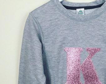 Personalised ladies sweatshirt, mama initial sweatshirt, mom sweatshirt, matching mummy sweatshirt, twinning sweatshirt