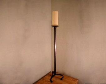 Floor Standing Forged Church Candlestick Holder, handmade by Tom Fell - Blacksmith