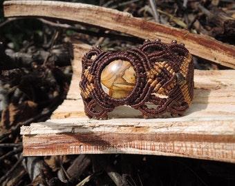 Boho bracelet Macrame bracelet Gemstone bracelet Gipsy bracelet Tribal bracelet Gift bracelet Brown bracelet Gentle bracelet Safari bracelet