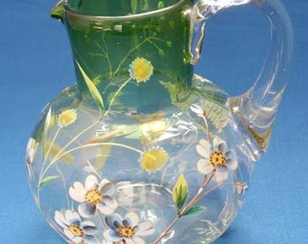 Victorian Water Jug Enamel Painted