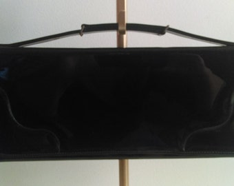 Vintage Black Ronay Clutch Handbag.