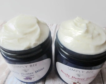 Body Butter Bliss, Whipped Body Butter, Whipped Moisturizer, Shea Butter, Cocoa Butter, Body Cream, Non-Greasy, 4 oz