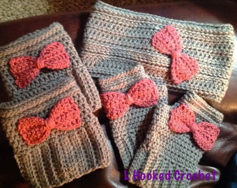 Wide head warmer, boot cuffs and texting gloves (wristers)