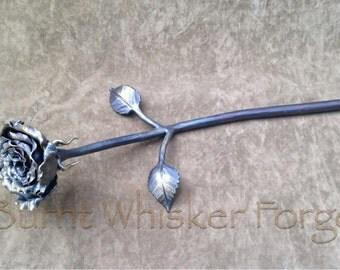 Blacksmith Flower, Blacksmith Rose, Iron Flower, Iron Rose, Handforged Flowers, Handforged Iron, Blacksmith Sculpture, Valentine's Day, Rose