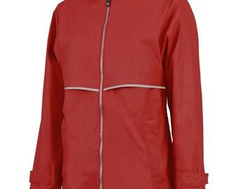 Red New Englander Rain Coat