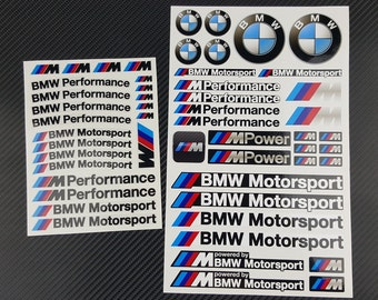 BMW MPower 2 decal sets sheet 53 stickers M3 M4 M5 M6 M Power Performance x5M x6M Laminated Premium quality