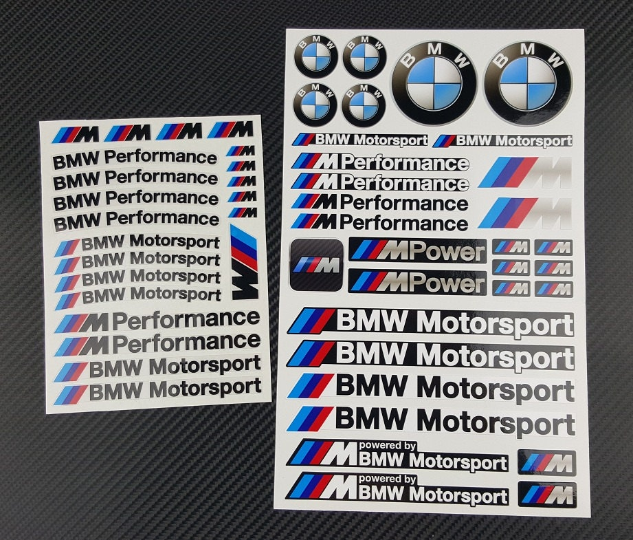 Bmw Mpower 2 Decal Sets Sheet 53 Stickers M3 M4 M5 M6 M Power