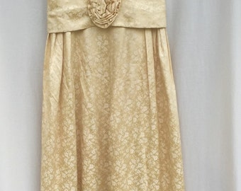 1960s Gold Brocade Desss SMALL