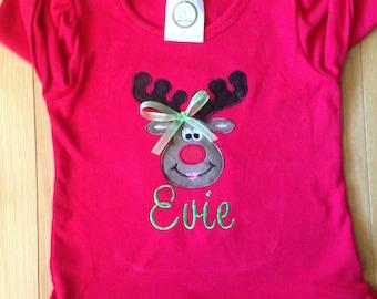 Girls Rudolph Shirt