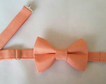 Mens Coral Bow Tie