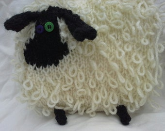 Knitted Sheep. Natural colours.