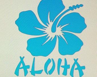 Aloha Die Cut Vinyl Decal