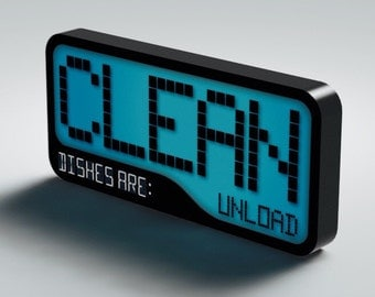 NEW Clean / Dirty Dishwasher Magnet Flip Sign - Super Strong Durable, Waterproof Reversible Dishwasher Magnet