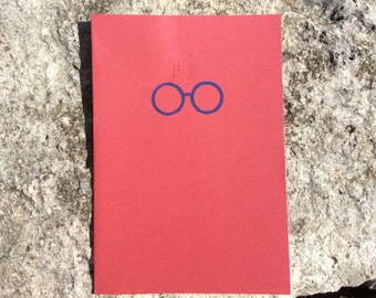 Harry Potter Glasses and Scar Card