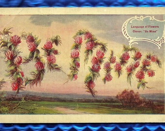 Be Mine Postcard, Divided Back Postcard with some writing on back