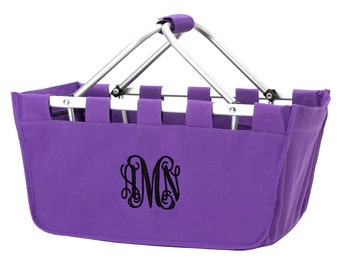 Purple Personalized Easter Basket Market Tote - Personalized Market Tote - Monogrammed Market Tote - Monogrammed Bag - Game Day Tote