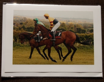 Greetings Card: Two horse race