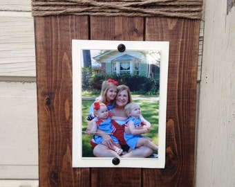 Set of Three (3) Frames, Rustic Picture Frames, 5x7 frames, Twine