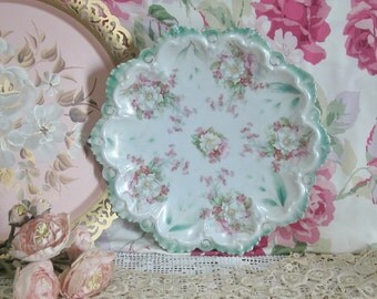 Lovely Austrian Hand Painted Flowers Porcelain Plate
