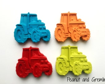 Party Bag Favours, Tractor Crayons, Farm Theme, Personalised Favours, Childrens Party, Birthday Party, Wedding Favor, Favor Bags, Crayons