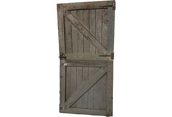 Race Track Horse Stall Dutch Doors Pair Vintage Barn Doors