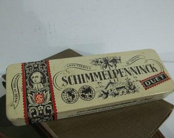 Vintage Schimmelpinnenck Duet Dutch Cigar Tin