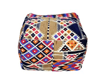 Egyptian Pouf - Handmade - 100% Wool