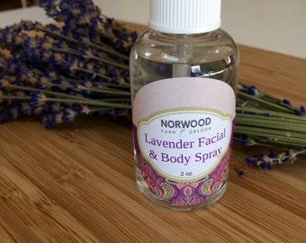 Lavender Facial and Body Spray-Lavender Face Toner, Lavender Water Toner, Lavender Hydrosol, Natural Face Toner