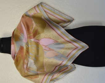 Vintage pastel colors silk scarf