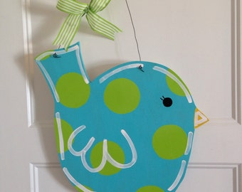 Wooden Bird Door Hanger