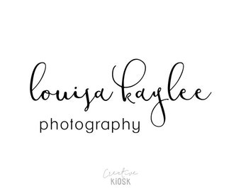 Signature Logo Design. Photography Branding. Calligraphy Font. Instant Download. Photography Watermark. Editable PSD File. #0356.