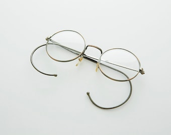 Small Round John Lennon Victorian Spectacle Vintage Eyeglasses with Cable Temples -RUDY
