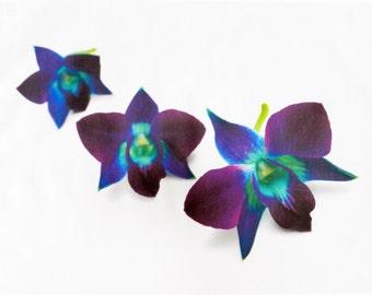 The Purple Orchid Large Cotton Tea Towel