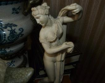 Vintage statue greek goddess