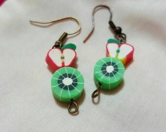 Apple and Kiwi Earrings