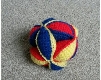Bright Crochet Puzzle Ball