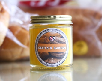 Peeta's Bakery-- Hunger Games Inspired Soy Candle (4 oz)