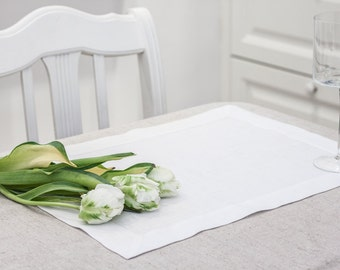 Amazing white Linen Placemats, Fabric Placemats, Cloth Placemats, Table Placemats, Table Linens, table linens.
