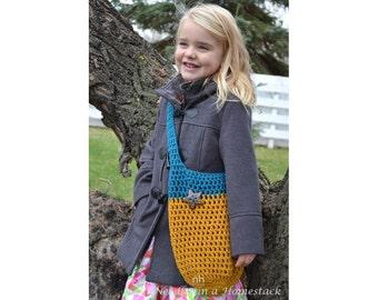 Children's Market Tote, Crochet Bag