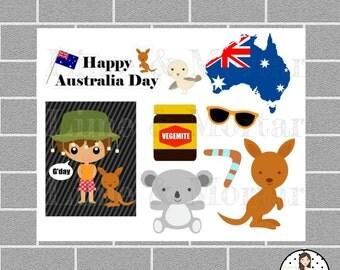 Australia Day MINI Planner Stickers