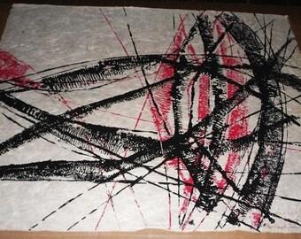 Ingrid Gretenkort-Singert  - Abstract Mixed Media on Japanese Paper - 1968/71 - 9/20 - Academy of Fine Arts in Stuttgart