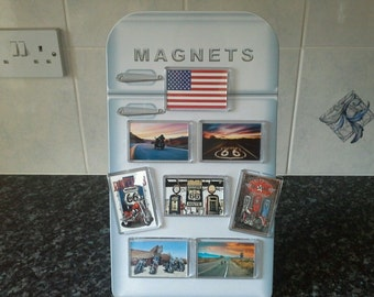 Route 66 Biker Fridge Magnet Set. Americana, USA. Motorbike Rider's Memorabilia