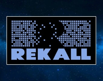 Rekall Fridge Magnet. Inspired by Total Recall. Sci Fi Memorabilia