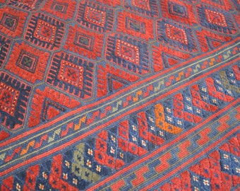 FREE SHIPPING Vintage Stunning Mishwani Kilim Carpet Mixed Herat Area Carpet